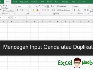 Mencegah input ganda duplikat excel google sheet