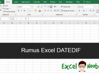Rumus Excel Datedif