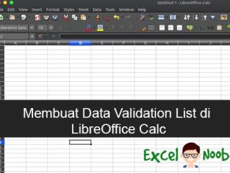 Membuat data validation list di LibreOffice