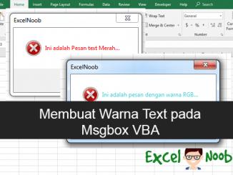 Merubah Warna text Msgbox