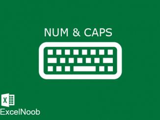 CapsLock Numlock VBA Excel