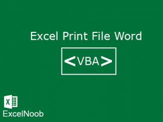 Excel Print File Word