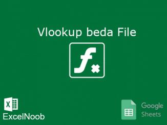 Vlookup Beda File Google Sheet