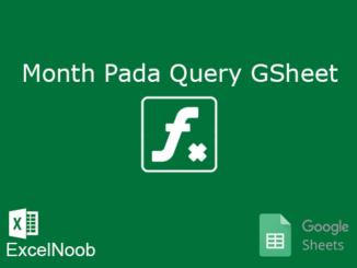 Month Google Sheet pada Query
