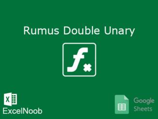 Penjelasan Rumus Double Unary