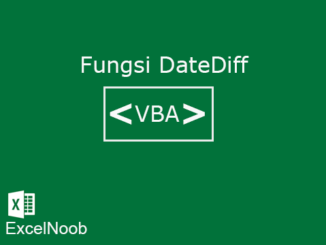 Fungsi DateDiff VBA
