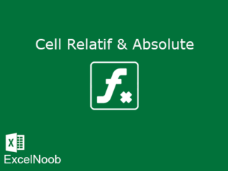Cell Relatif dan Absolute Excel