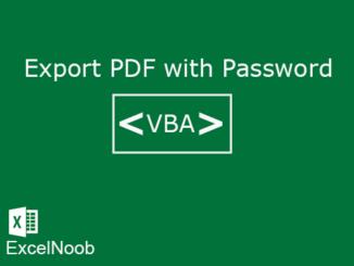 Export Excel menjadi PDF dengan Password