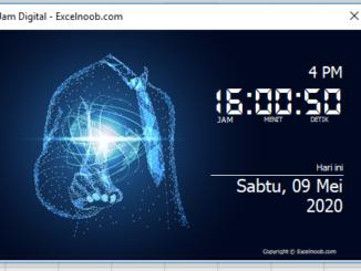 Membuat jam digital dengan VBA Excel