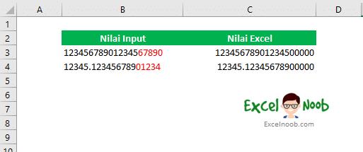15 digit Excel