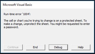 VBA Error Sheet Protect