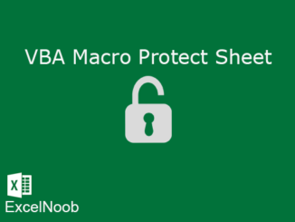 Vba Macro protect Sheet