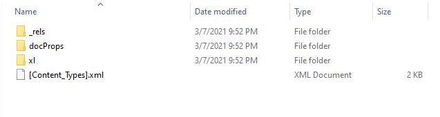 File Excel XML