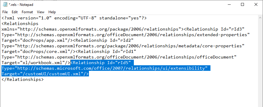 Relationship Custom UI Ribbon