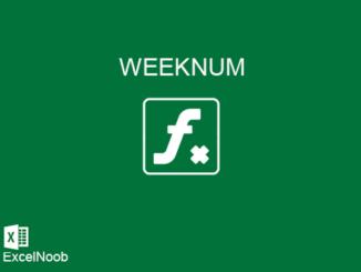 Fungsi weeknum Excel